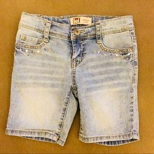 VTG Girl's Embellished Jean Shorts Sz7